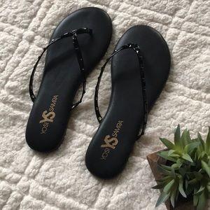 Yosi Samra Black Studded Sandals